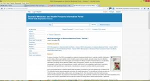Figure 2. World Health Organization Monographs