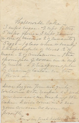 Winterthur Library, Doc 47, Mrs. E.A. Phelp's recipe book