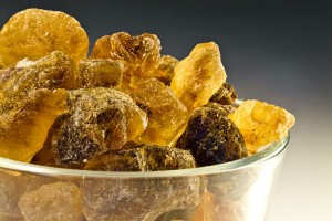 Brown candy sugar, also known as 'Boerhaave's sugar' in the eighteenth century