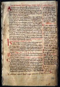 Manuscript circa 1150