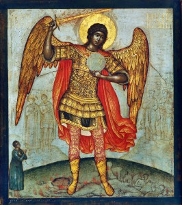 Ushakov's Archangel Michael and the Devil