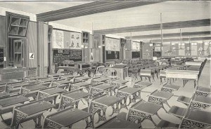 Classrooms in 1897 at the Francis M. Drexel School.
