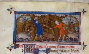Queen Mary Psalter (England, c. 1310–1320): London, British Library, Royal 2 B VII, f. 81v. Source: British Library.