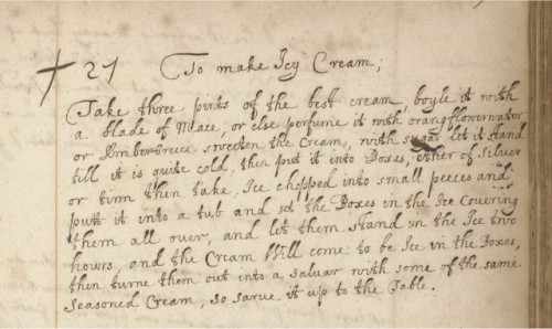 """To Make Icy Cream"" MS.7113, f.158r"