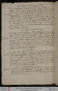 A page of recipes against stroke. Cod. pal. germ 177.