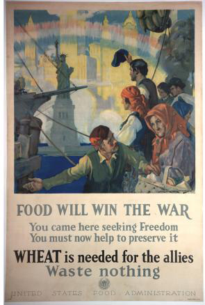 Food Will Win the War Poster Image A US Food Administration poster from World War I. Credit: The Gilder Lehrman Collection #GLC09522