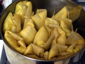 Tamales. Image Credit: Phil Gregory. Via Wikimedia Commons.