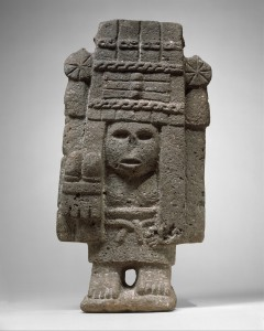 MaizeDeityUnknown Aztec artist, Maize Deity (Chicomecoatl),15th–early 16th century, Mexico, Mesoamerica, basalt statue, Museum Purchase, 1900, 00.5.51, Courtesy of the Metropolitan Museum of Art, New York.