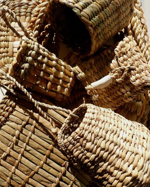 Modern English bulrush bags. Image courtesy of Ruby Taylor, http://www.nativehands.co.uk