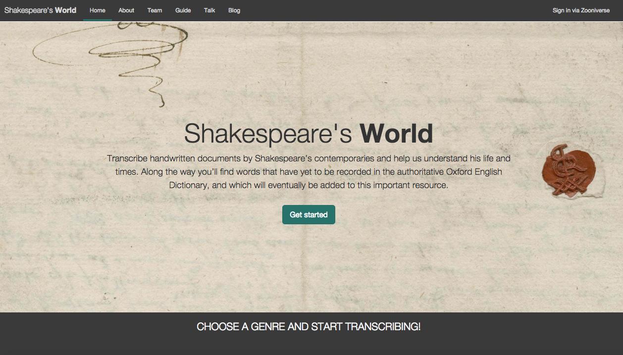 Shakespeare's World. http://www.shakespearesworld.org/#/
