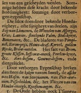 Section from Van Beverwijck´s, Steen-Stuck (1649) Ch. 11, pt. 4