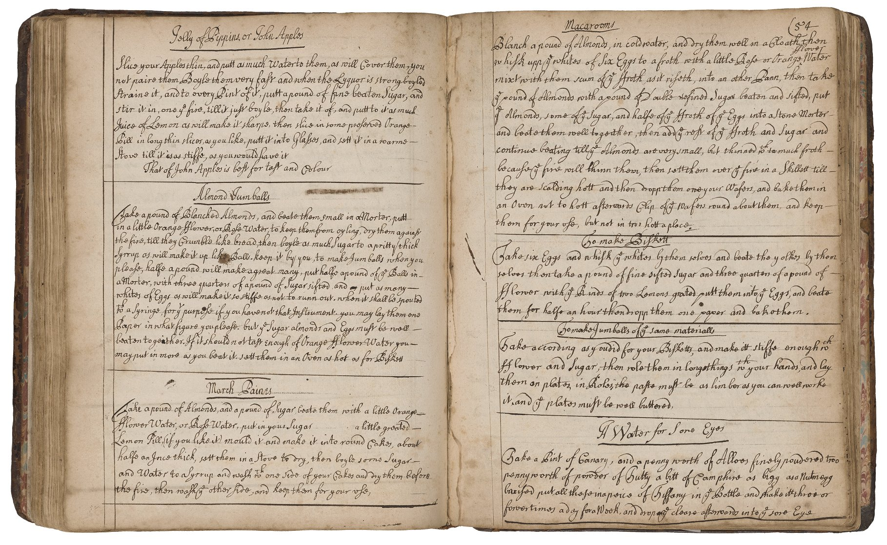 Cookery and Medicinal Recipes (c. 1675-c.1750) V.a.429, Folger Shakespeare Library. Image courtesy of the Folger Shakespeare Library's LUNA: Digital Image Collection.