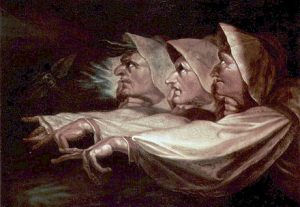 Henry Fuseli, Weird Sisters (1783).