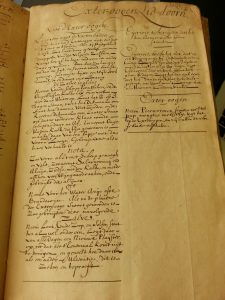 "The manuscript allocates only one page to the letter ""E"", marked on the top right corner."