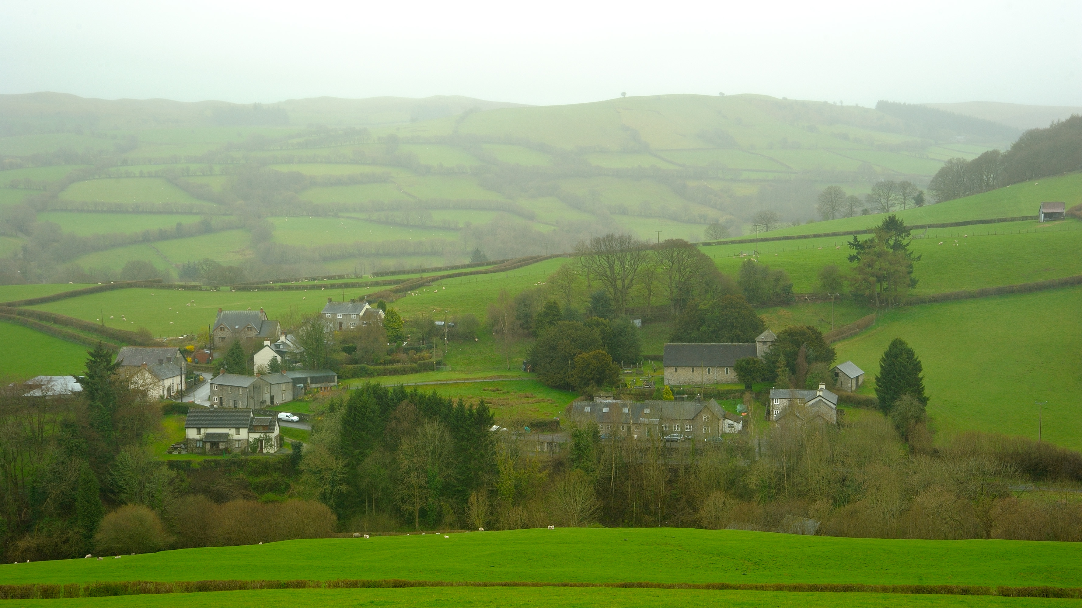 Image of the village of Gwenddwr. Permission granted by the owner of the website Radnorshire Images (John Crellin).