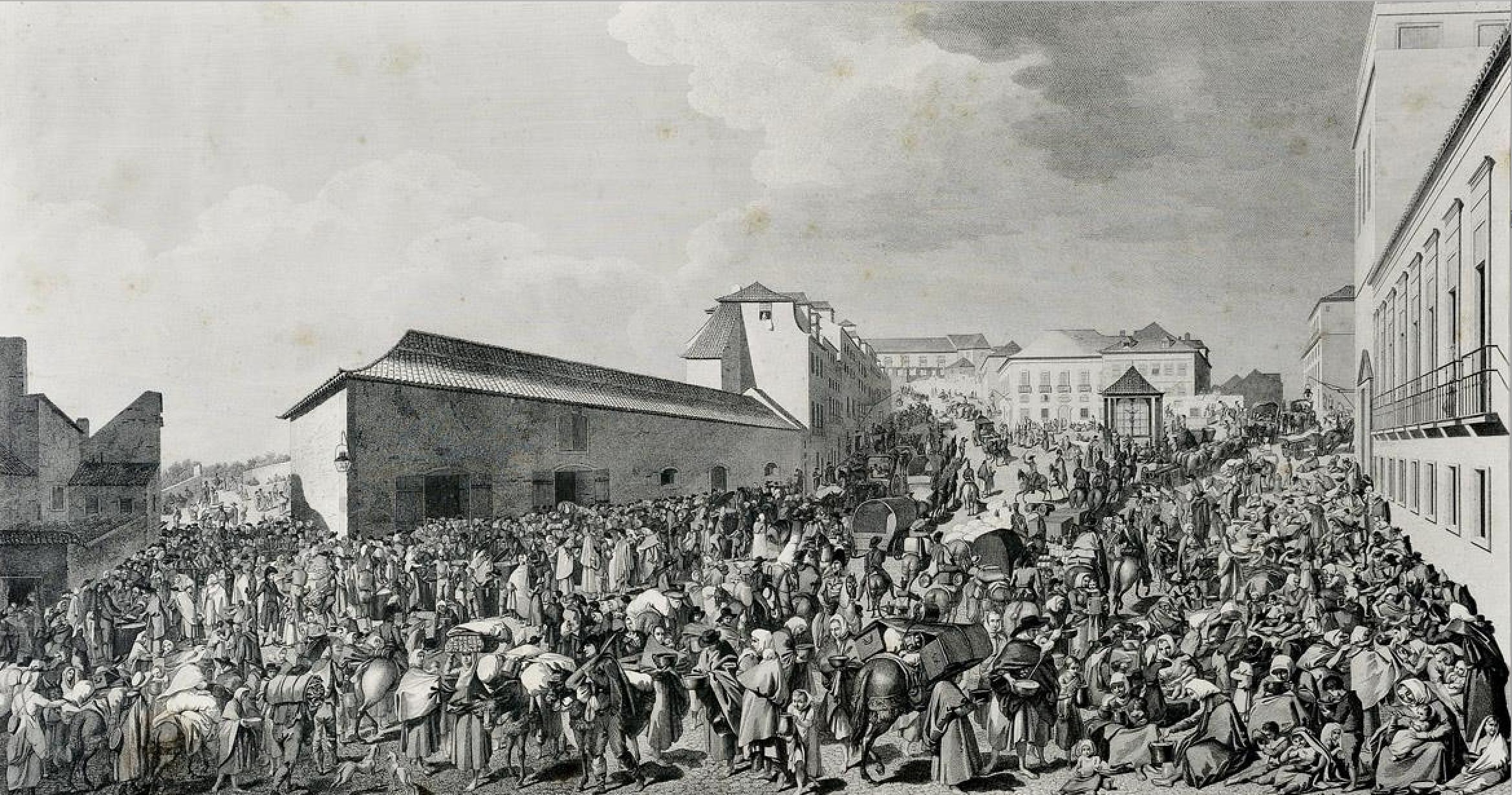 """Domingos Sequeira, """"Sopa dos Pobres em Arroios"""" (1813).  Image courtesy of Wikimedia Commons."""