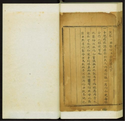 Figure 2. Luo Benli ed. Bian yong liang fang. Vol. 2b, p. 50b. c. 1796-1820. Princeton University Library. Downloadable PDF available at http://pudl.princeton.edu/objects/fn107159v