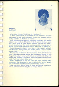Introduction from Ruth Jackson's Soulfood Cookbook, 1978. Image courtesy of Lupton Collection, University of Alabama Libraries