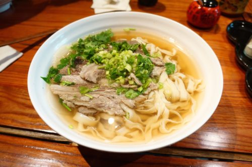 Lanzhou Beef Noodle Soup. Image courtesy of Wikimedia Commons via CC by 3.0
