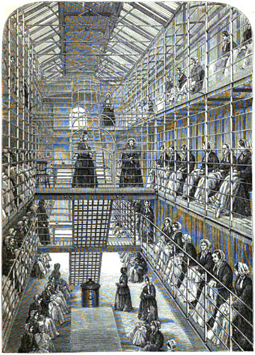 Female convicts at work in Brixton Women's Prison. From Henry Mayhew and John Binny, The Criminal Prisons of London and Scenes of Prison Life (London: Griffin, Bohn & Co, 1862), page after 196. Image courtesy of WikiCommons.