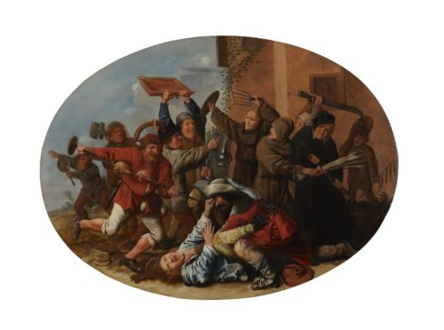 Jan Miense Molenaer. Battle Between Carnival and Lent. c.1633-34. Indianapolis Museum of Art.