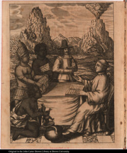 Natives Offering Gifts to Thomas Gage